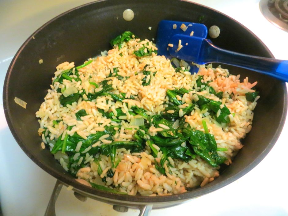 SPINACH AND RICE MIXTURE